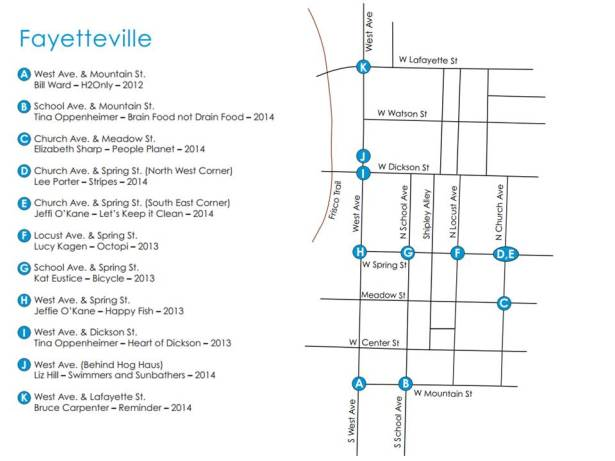 Fayetteville Walking Tour Map